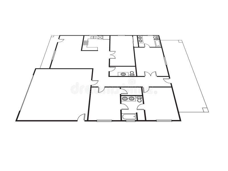 Plan de la casa stock de ilustración