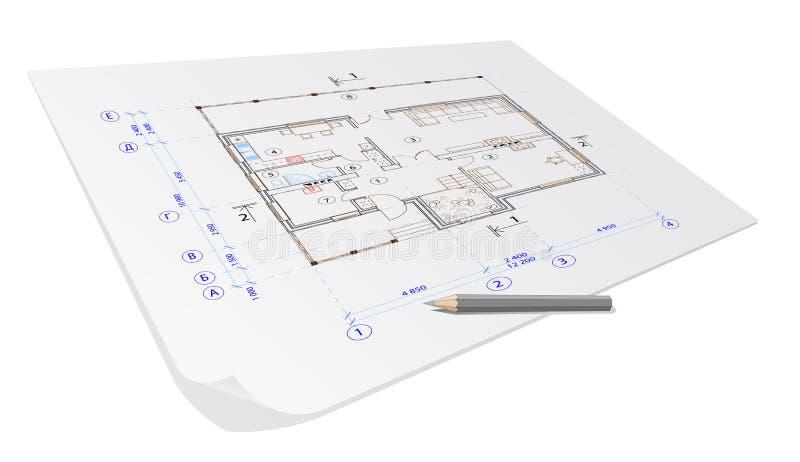 Plan de la casa de la configuración ilustración del vector