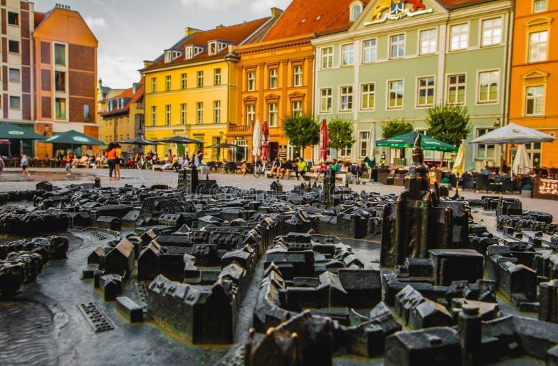 Plan de la ciudad en Stralsund, Alemania Árbol en campo fotografía de archivo libre de regalías