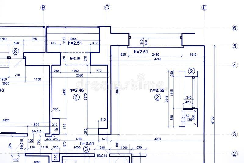 Plan de la construcción, dirigiendo modelos, parte de arquitectónico fotos de archivo