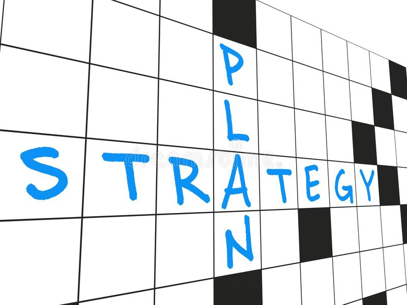 Plan de la estrategia foto de archivo libre de regalías