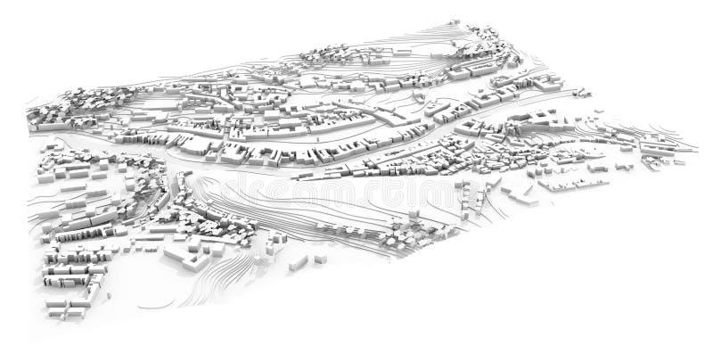 plan de la ville 3d de scène urbaine illustration libre de droits