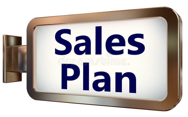 Plan de las ventas en fondo de la cartelera libre illustration