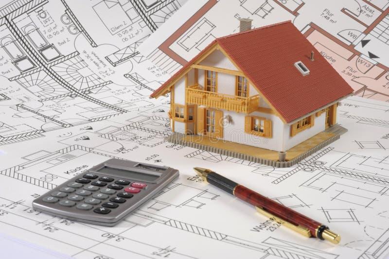 Plan de maison de construction photo stock image du for Conception de plans de maison de construction