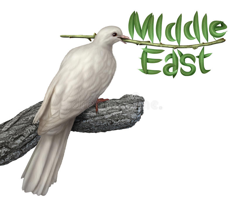 Plan de paix de Moyen-Orient illustration stock