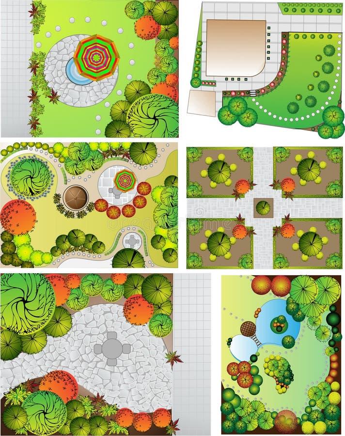 Plan de paysage des collections OD illustration stock