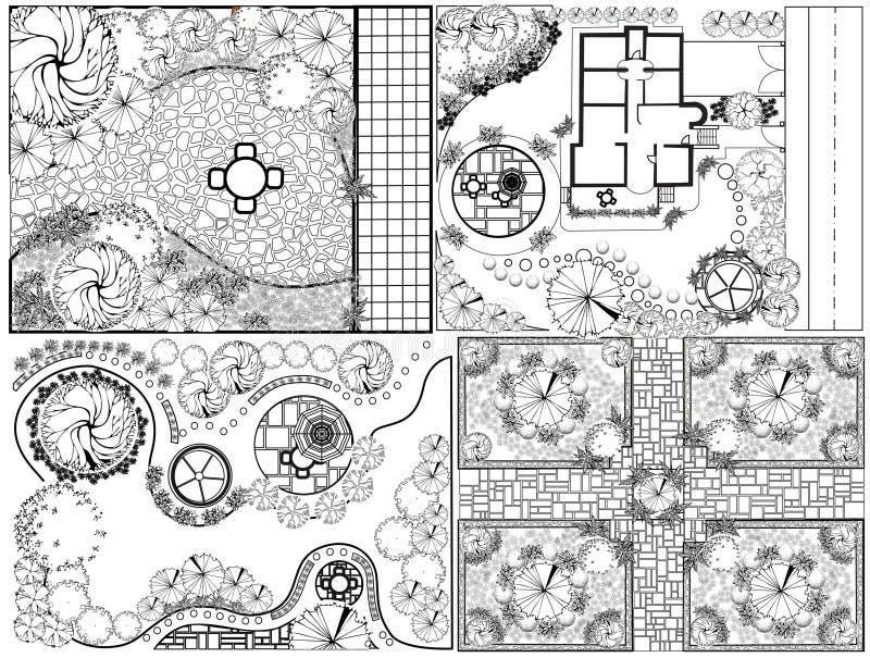 Plan de paysage des collections OD illustration de vecteur