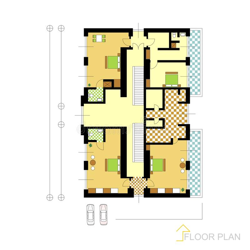 Plan de piso libre illustration