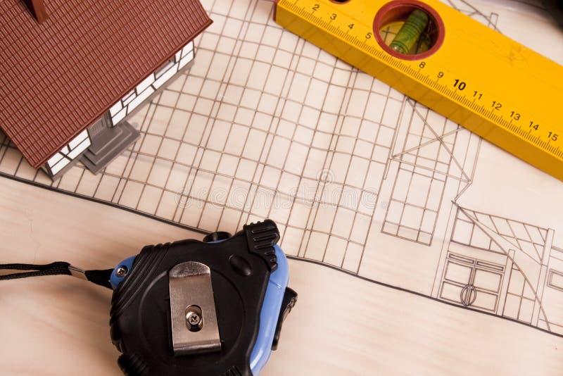 Plan de rénovation photos stock