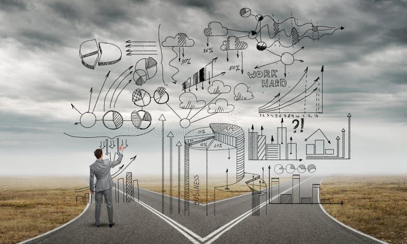 Plan de stratégie d'Infographic images libres de droits
