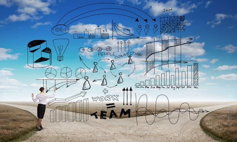 Plan de stratégie d'Infographic photos stock