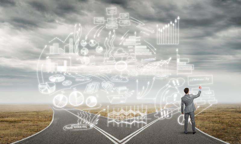 Plan de stratégie d'Infographic images stock