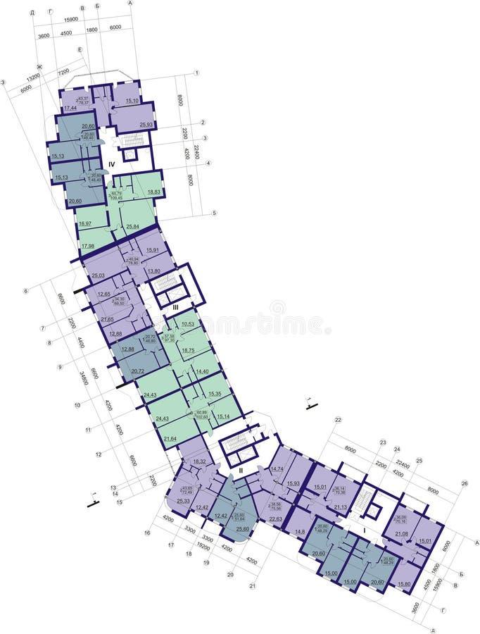 Plan de suelo foto de archivo