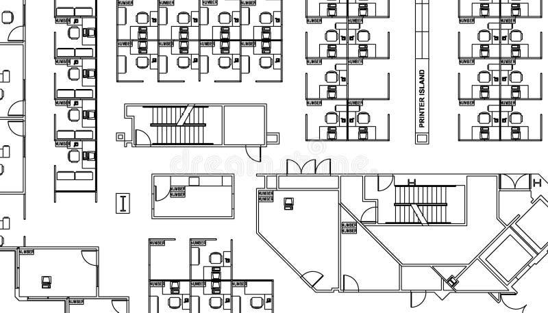 Plan de suelo ilustración del vector