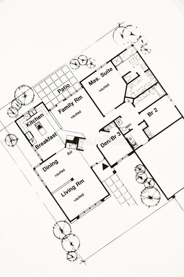 Plan de suelo imagen de archivo