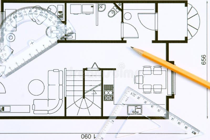 Plan de suelo imagen de archivo libre de regalías