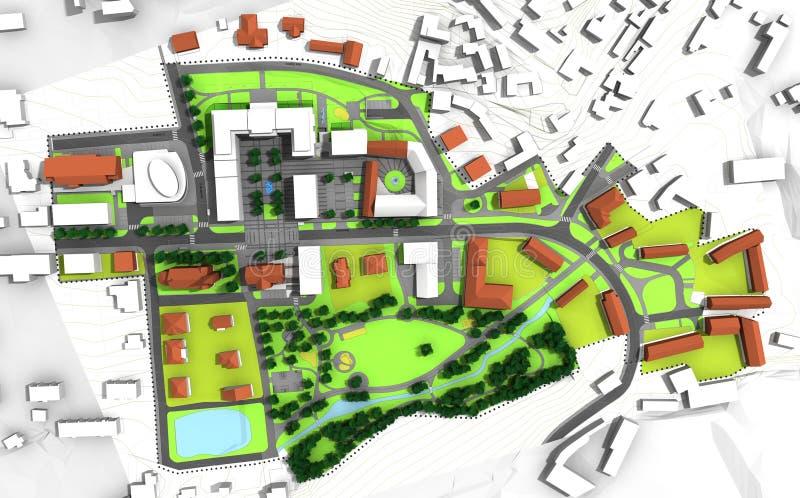 Plan de ville illustration stock