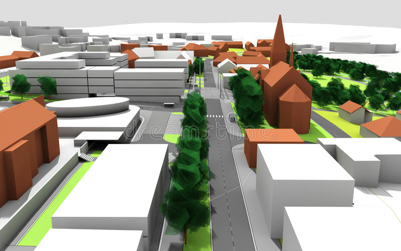 Plan de ville illustration de vecteur