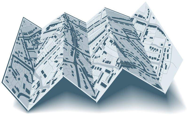 Plan de ville se pliant illustration de vecteur
