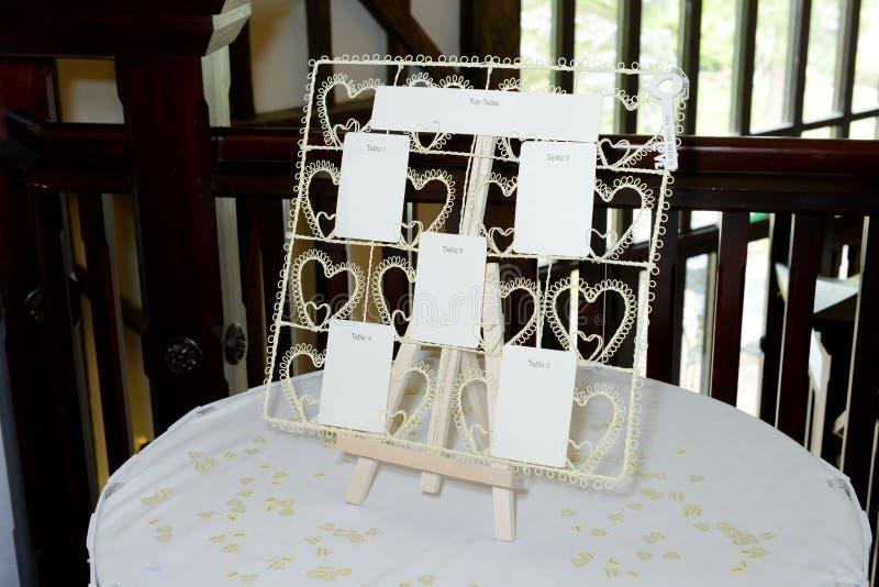 Plan del asiento de la boda fotos de archivo