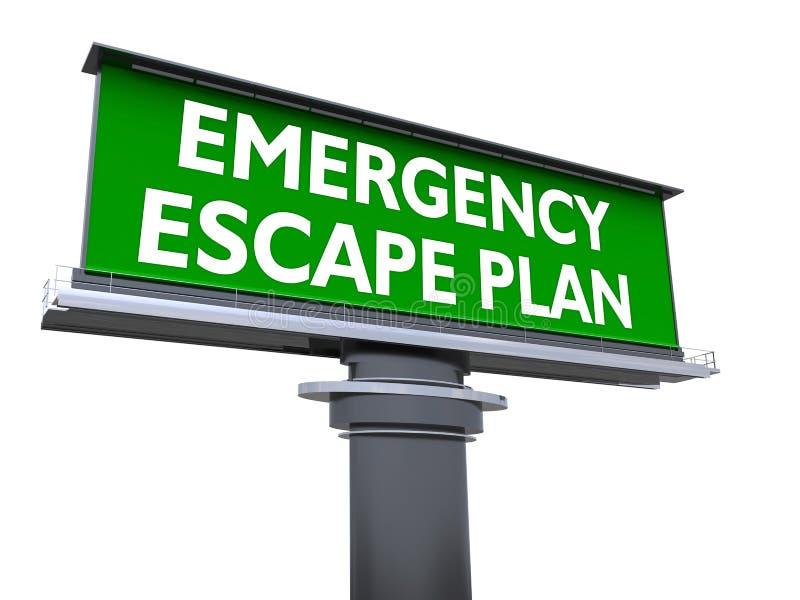 Plan del escape de la emergencia libre illustration