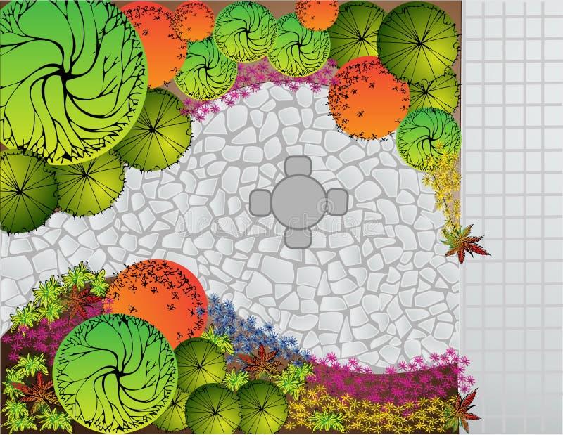 Plan del paisaje stock de ilustración