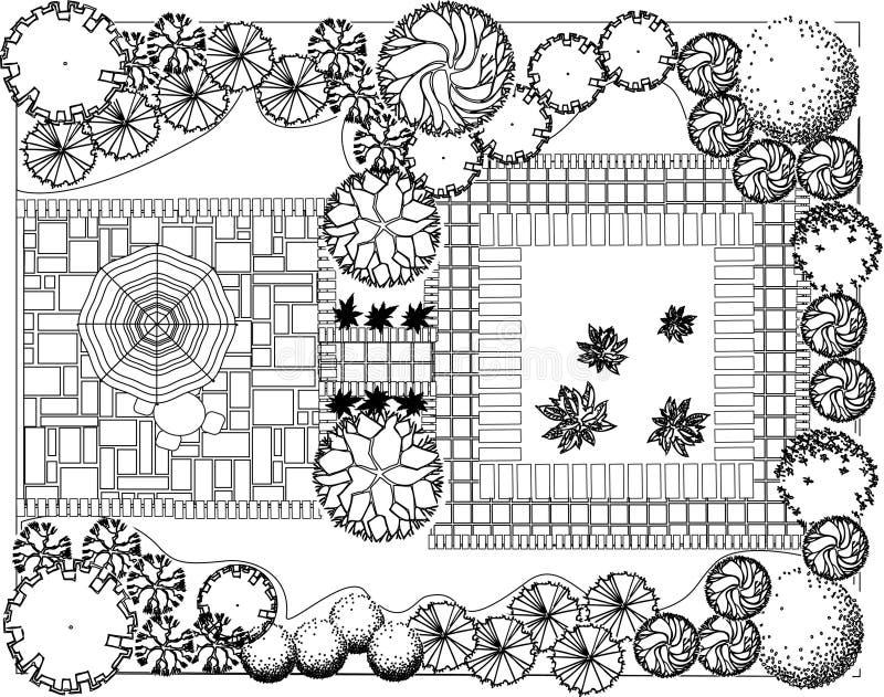 Plan des Gartens lizenzfreie abbildung