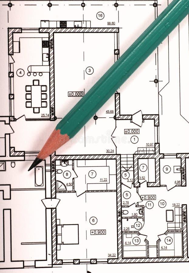 Plan des Hauses lizenzfreies stockbild