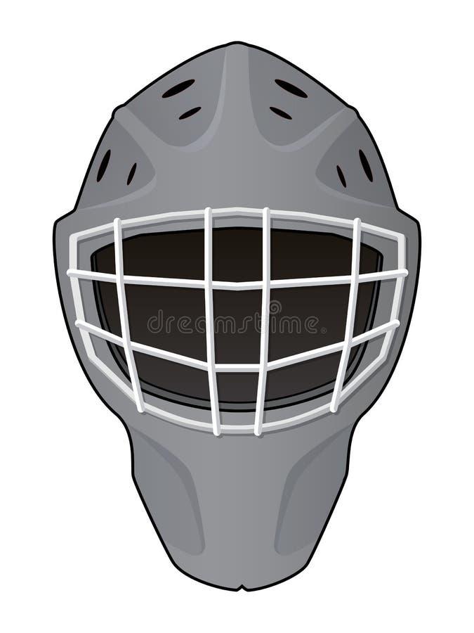 Plan des Hockeytormannsturzhelms vektor abbildung