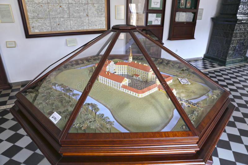 Plan des Nesvizh-Schlosses stockfotografie