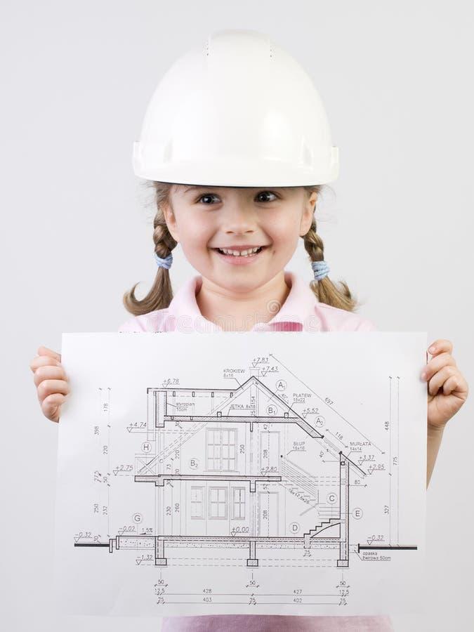 Plan des neuen Hauses lizenzfreies stockfoto