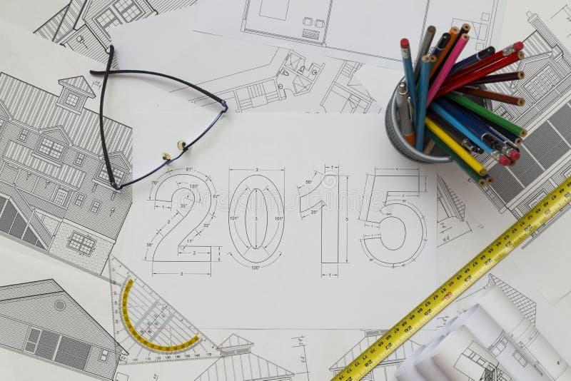 Plan des neuen Jahr-2015 stockfotos