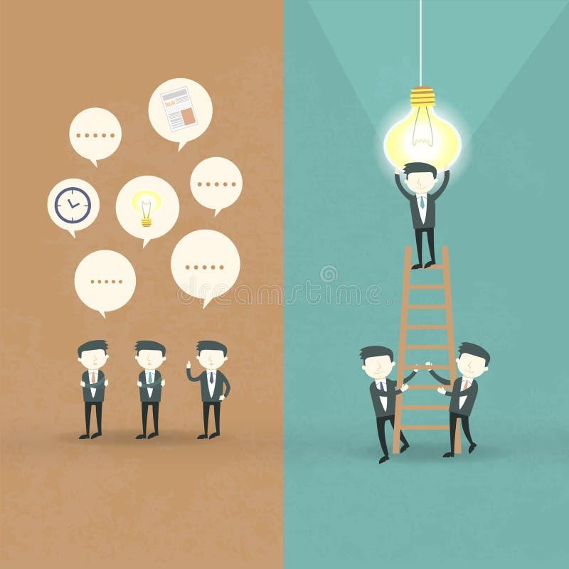 Plan design av affärsmansamarbetsbegreppet vektor illustrationer