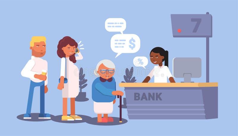 Plan design för bankmottagandekö ocks? vektor f?r coreldrawillustration vektor illustrationer