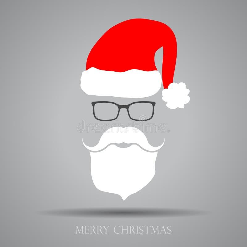 Plan design Santa Claus Face royaltyfri illustrationer