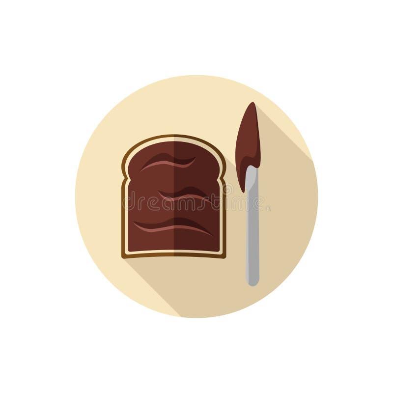 Plan designchokladpralin på en skiva av rostat bröd royaltyfri fotografi