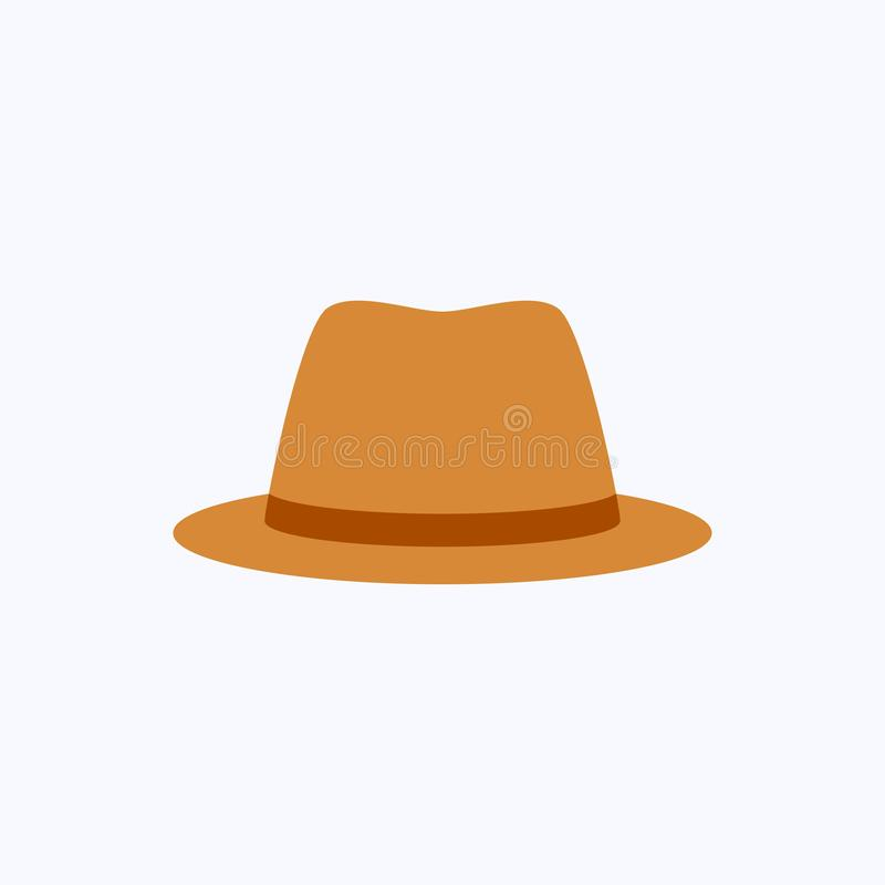Plan designstil för hatt på vit bakgrund vektor illustrationer