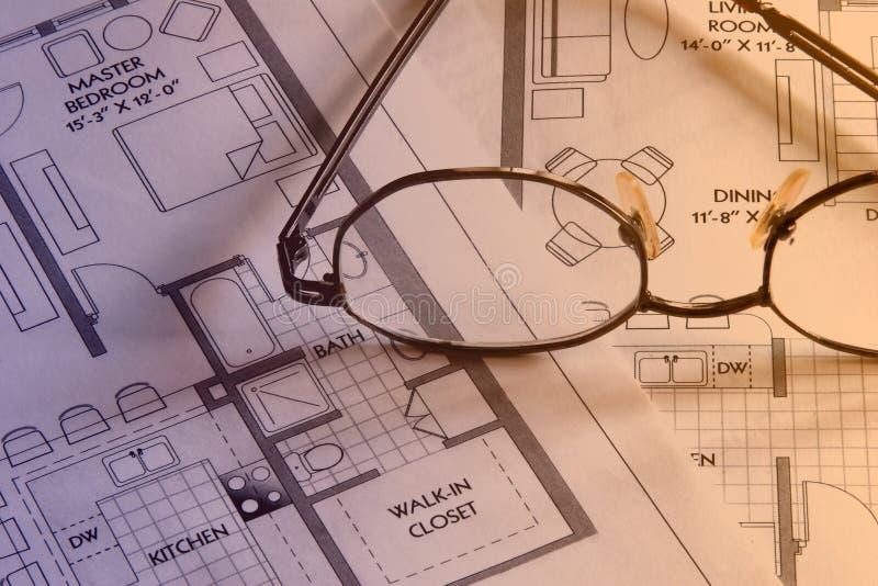 Plan drawings 4 stock image