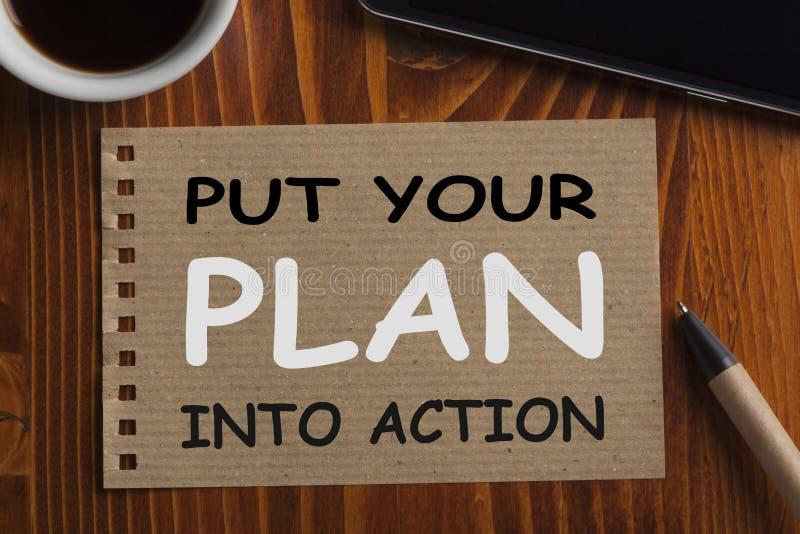 plan działania stawia twój zdjęcia stock