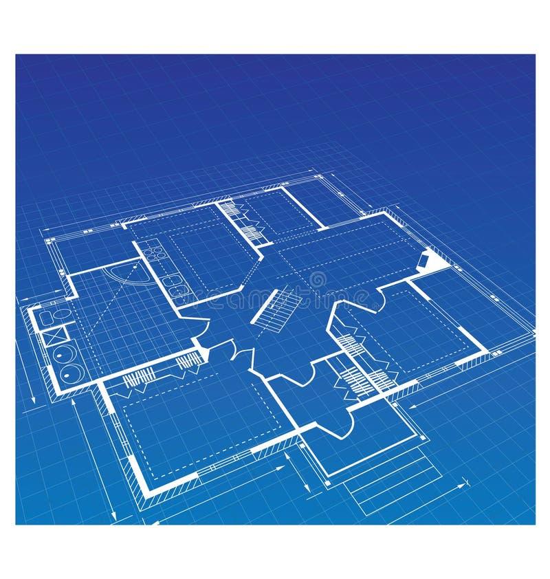 Plan een buitenhuis stock illustratie