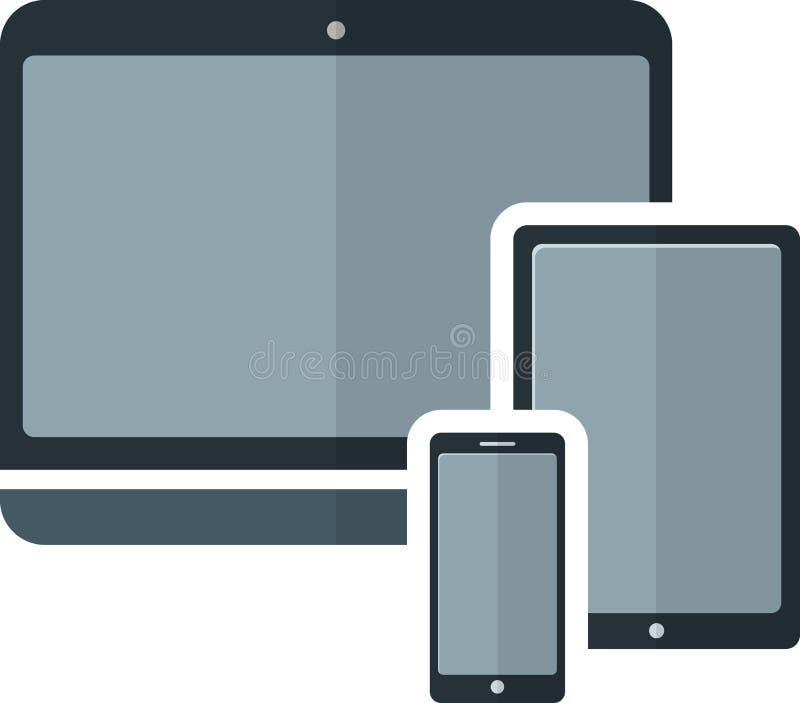 Plan elektronisk apparat royaltyfri illustrationer