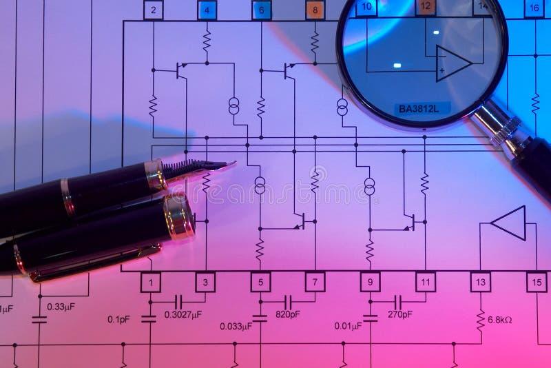 plan elektryczne obraz royalty free