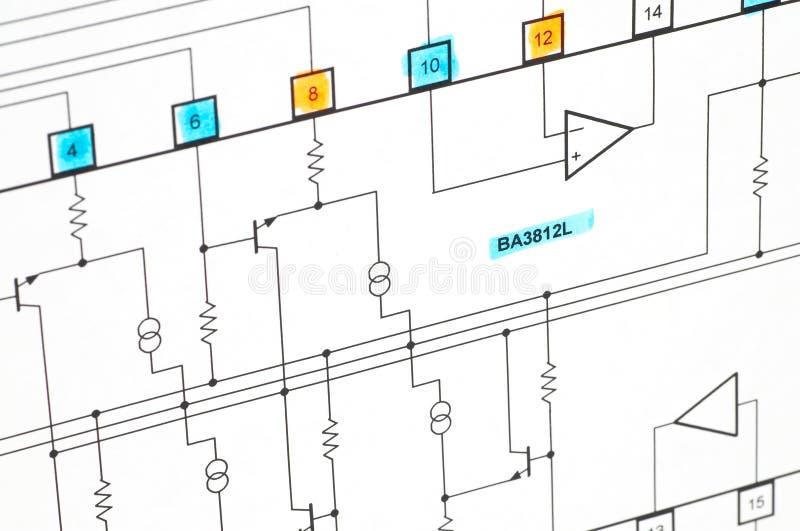 plan elektryczne zdjęcie stock