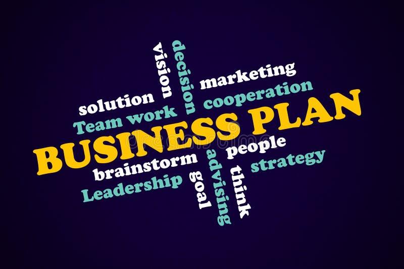 Plan empresarial, concepto estratégico, éxito de los componentes stock de ilustración