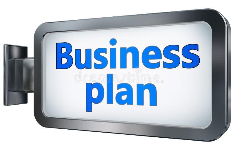Plan empresarial en fondo de la cartelera libre illustration