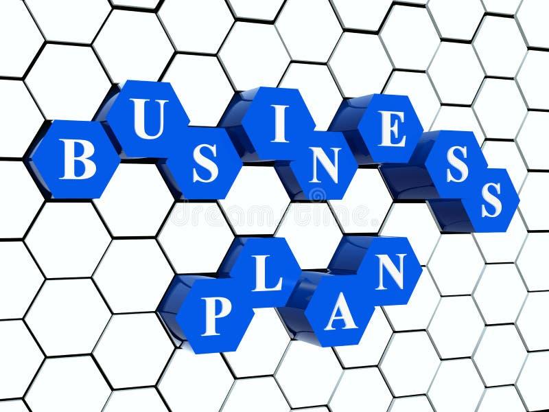 Plan empresarial - hexahedrons en estructura celular stock de ilustración