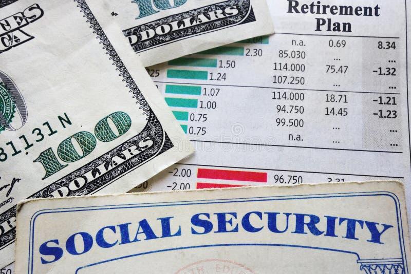 Plan en sociale zekerheid royalty-vrije stock fotografie