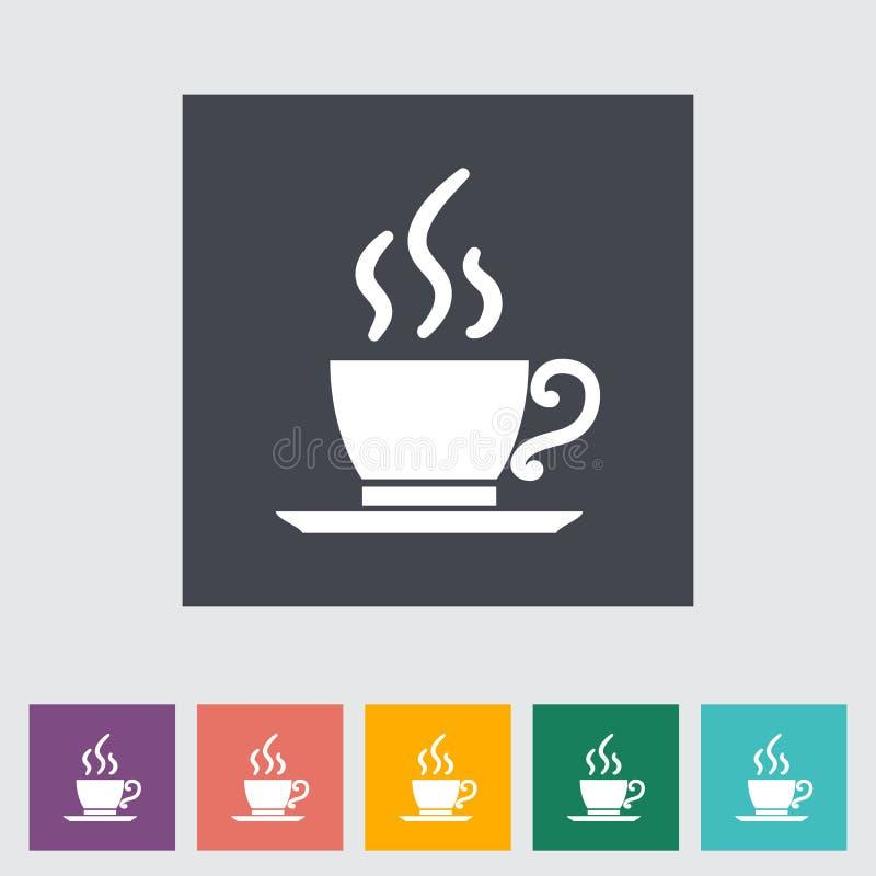 Plan enkel symbol för kafé. stock illustrationer