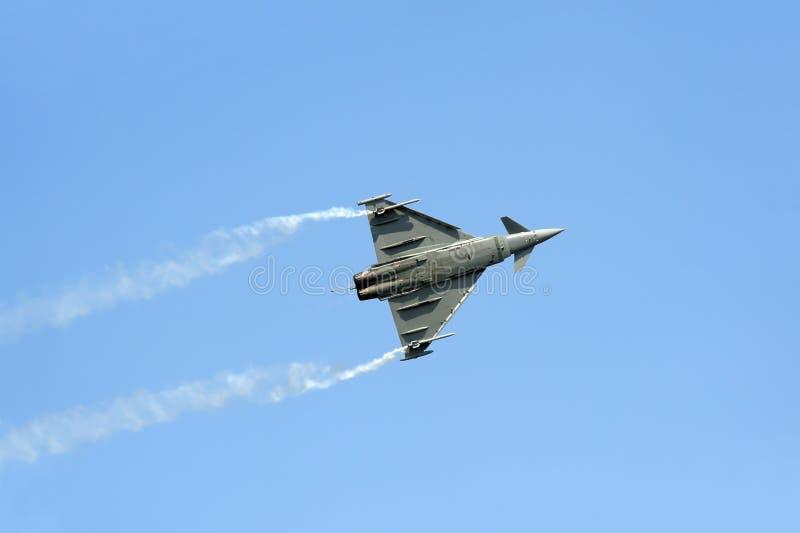 Plan Eurofighter Typhoonkämpe arkivbilder