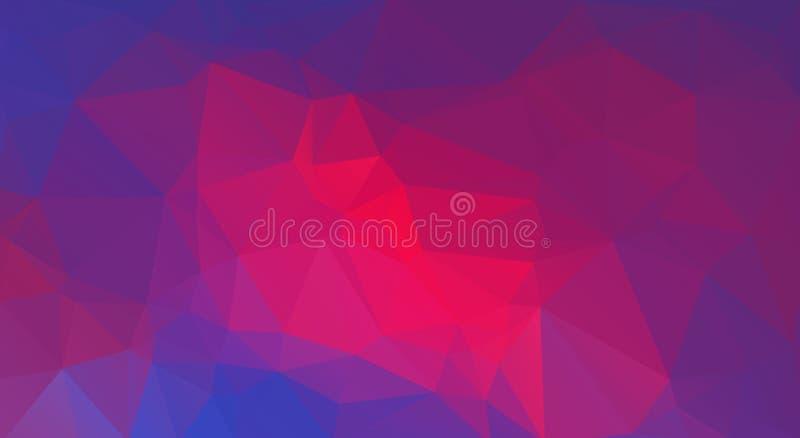 Plan extremal färgtriangelbakgrund vektor illustrationer